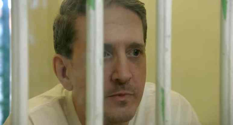 Richard Glossip behind bars in footage from Killing Richard Glossip