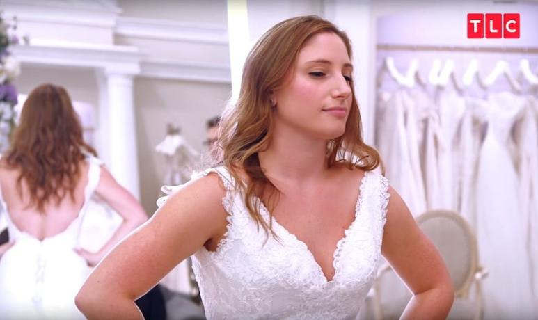 Bride Karen tries on a dress she loves on Say Yes to the Dress