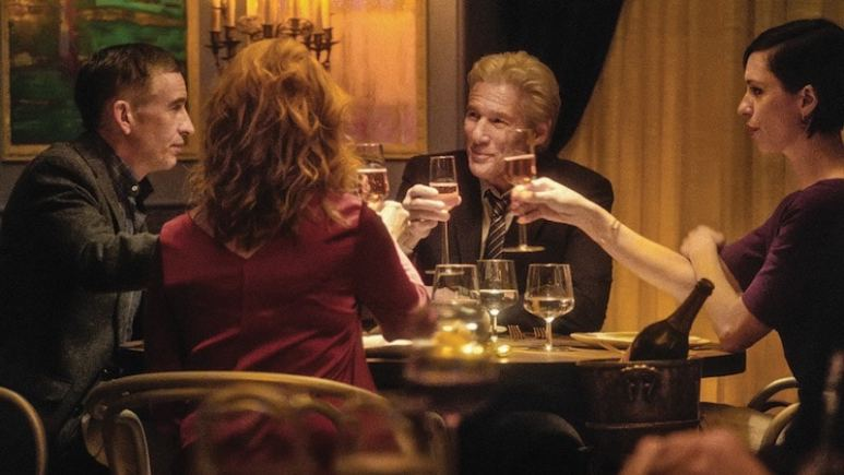 Steve Coogan, Richard Gere, Rebecca Hall, and Laura Linney in The Dinner
