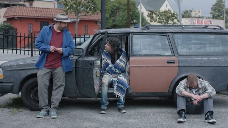 Tommy Swerdlow as Tommy, TJ Bowen as TJ, and Blake Heron as Blake in A Thousand Junkies