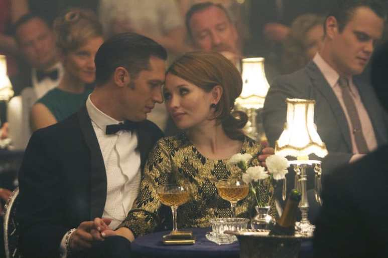 Still of Emily and Tom Hardy in Legend