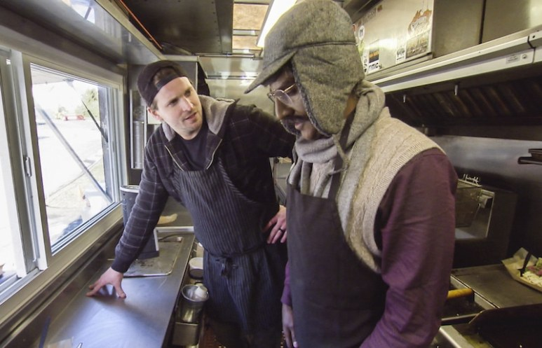 Marcus in a foodtruck on Undercover Boss
