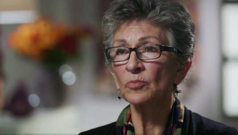 Mary Rose talks to the camera on The Real Story With Maria Elena Salinas