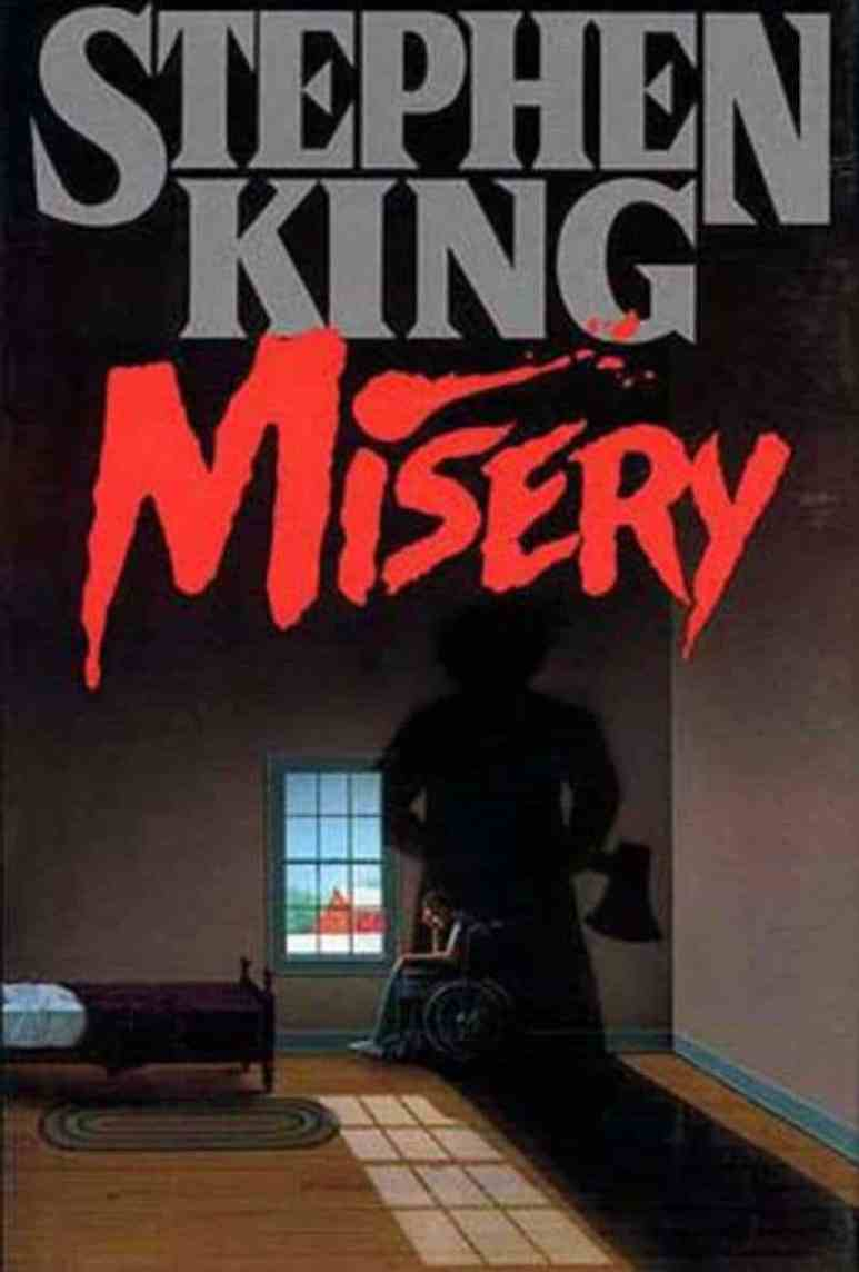 First edition cover of Stephen King's book Misery