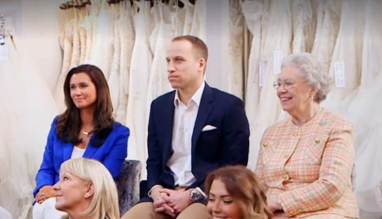 Still of the lookalikes of Pippa Middleton, Prince William and the Queen