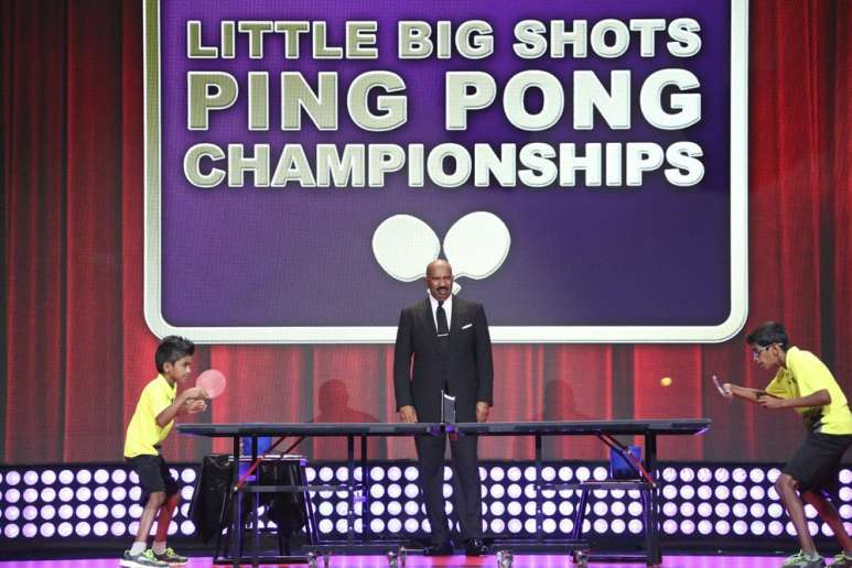 Sid and Nandan Naresh playing table tennis on Little Big Shots