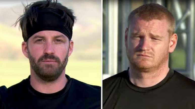 Headshots of Bananas and Wes on The Challenge: Champs vs. Pros