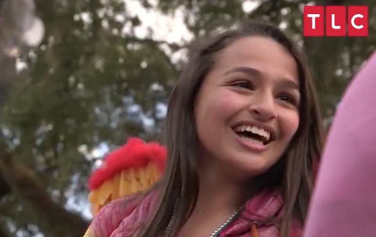 Jazz Jennings on a float in I Am Jazz on TLC