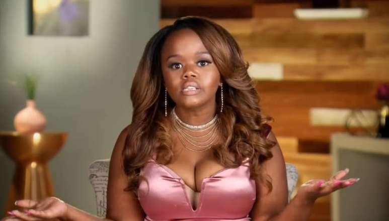 Monie Cashette talking to the camera on Little Women: Atlanta: Monie Gets Married