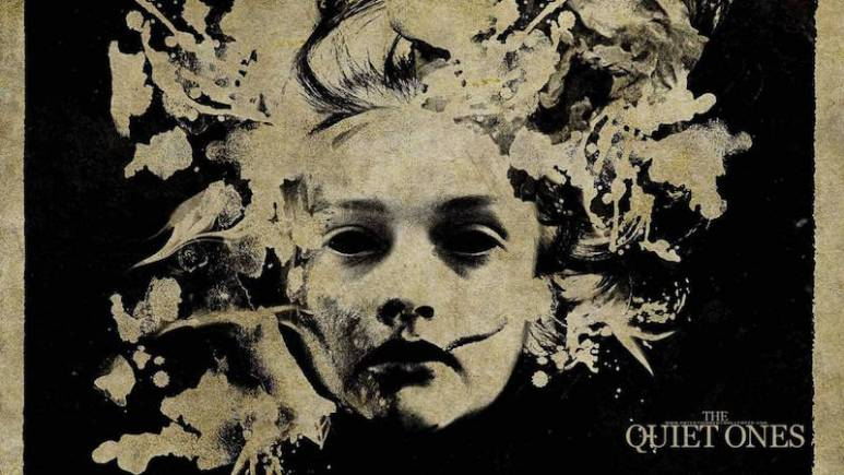 Artwork for The Quiet Ones showing a face in an ink stain