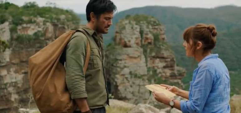 Hooten and the Lady look lost in the mountain jungle