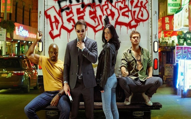 The cast of Marvel's The Defenders on Netflix
