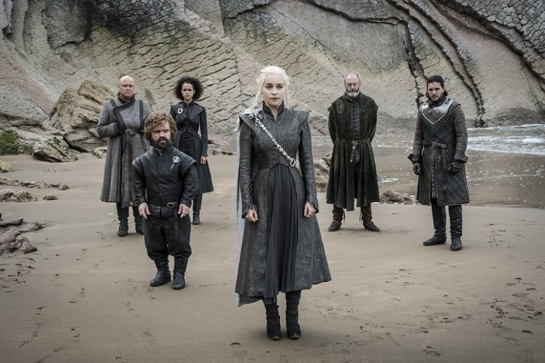 Daenerys and co. on Game of Thrones.