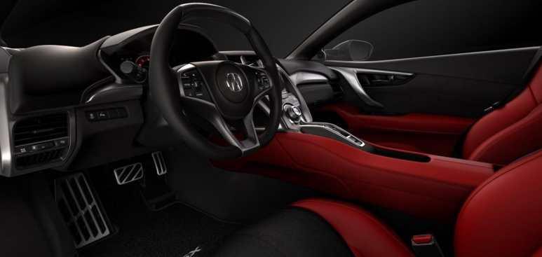 Acrua NSX interior in red and black