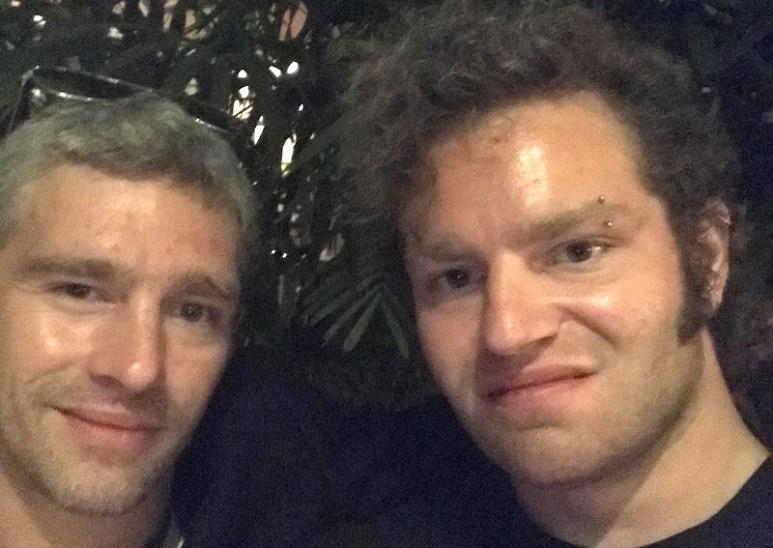 Gabe posing with Matt in an Instagram photo