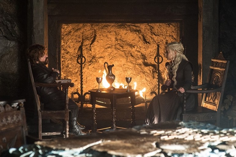 Tyrion and Daenerys on Game of Thrones