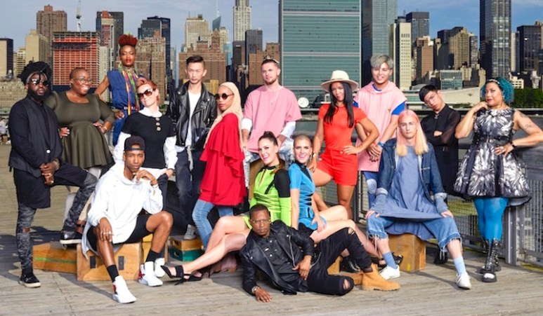 A group photo of the designers that make up the Project Runway cast for Season 16