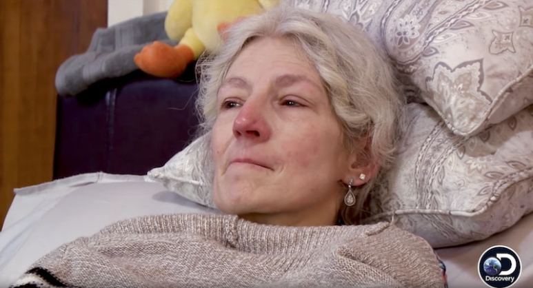 Ami Brown in bed on Alaskan Bush People
