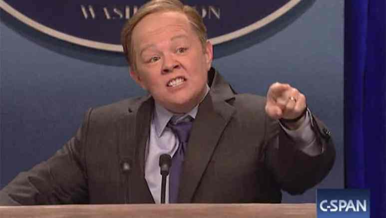 Melissa McCarthy as Sean Spicer on Saturday Night Live