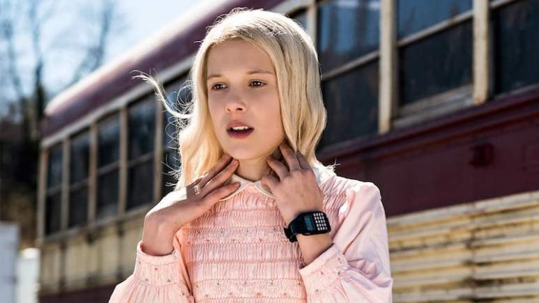 Millie Bobby Brown as Eleven in Season 1 of Stranger Things