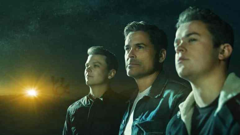 The Lowe Files, photo show Rob Lowe and his two sons - this week they are