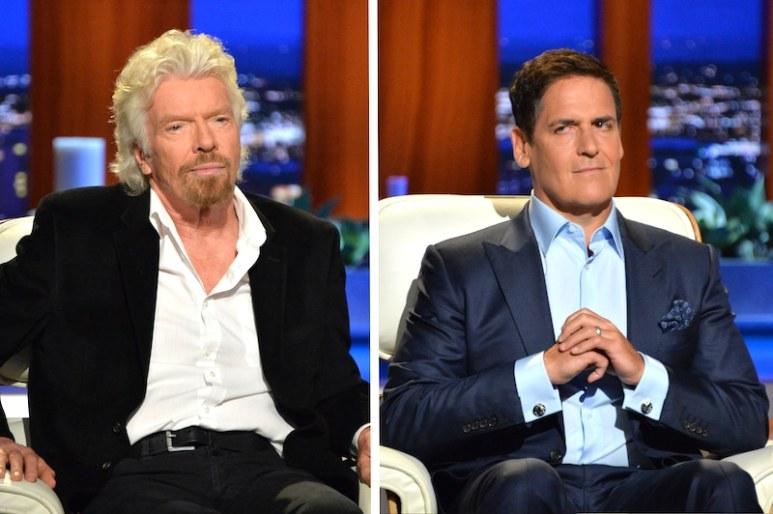 Richard Branson and Mark Cuban on Shark Tank
