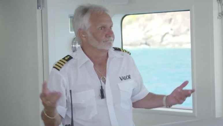 Captain Lee looking angry on Below Deck