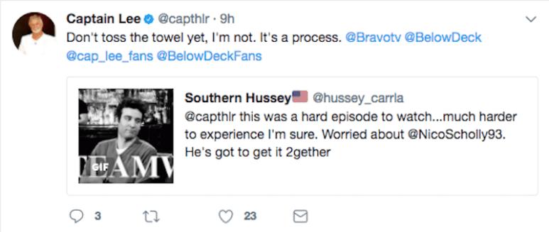 Captain Lee Rosbach tweet