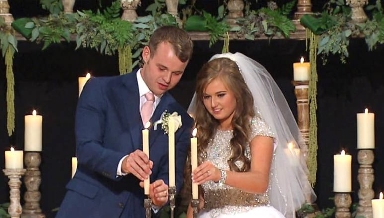 Joseph Duggar and Kendra Caldwell during their wedding on Counting On