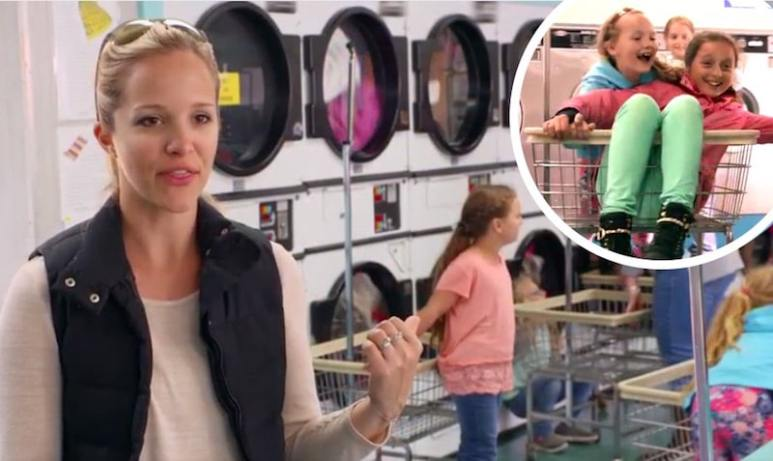 Mom Megan at the laundry on Meet the Putmans