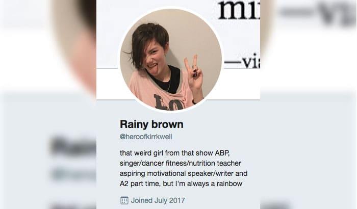 Rain's Twitter bio