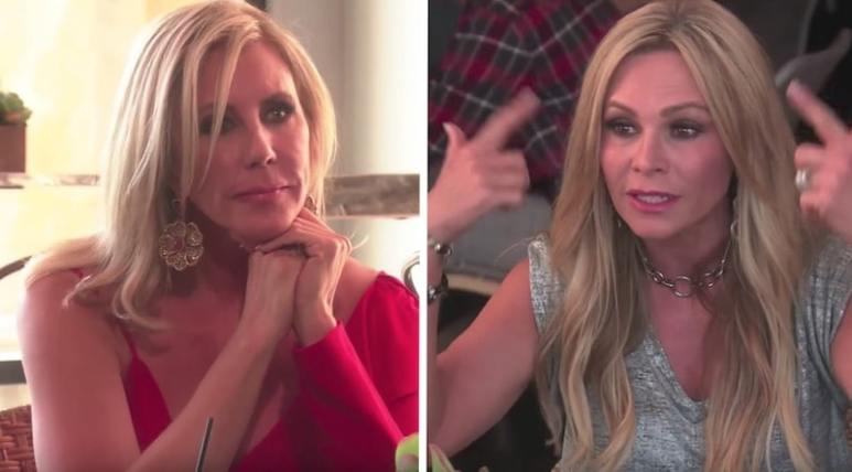 Vicki Gunvalson and Tamra Judge talking on The Real Housewives of Orange County