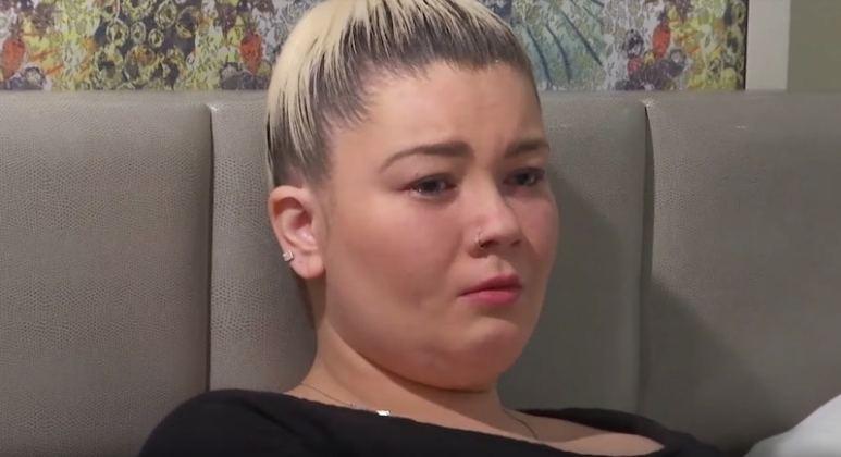 Amber Portwood crying on the Teen Mom OG Season 7 premiere