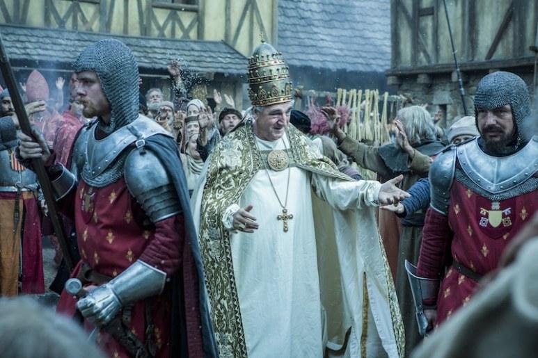Pope Boniface VIII of France (Jim Carter) from HISTORY's New Drama Series Knightfall.