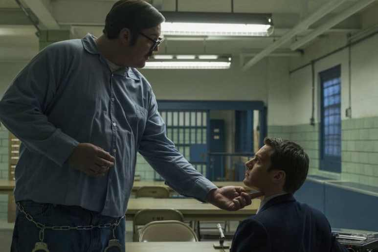 Jonathan Groff and Cameron Britton in Mindhunter