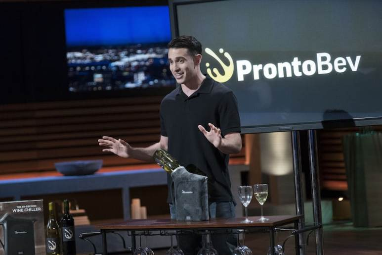 Pronto Concepts founder Alexander Simone with the ProntoBev on Shark Tank
