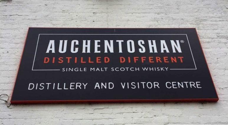 Auchentoshan distillery sign