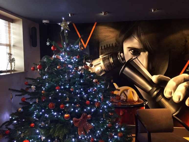 Christmas tree in the Auchentoshan bar