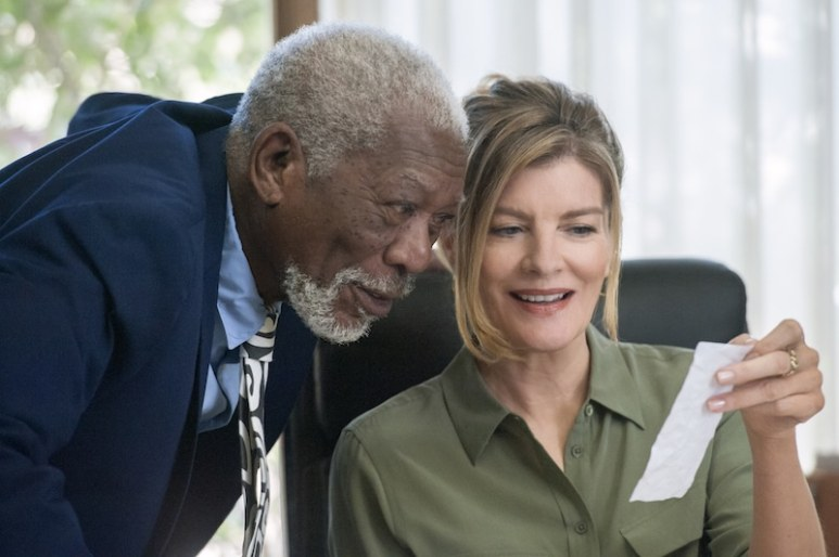 Morgan Freeman and Rene Russo