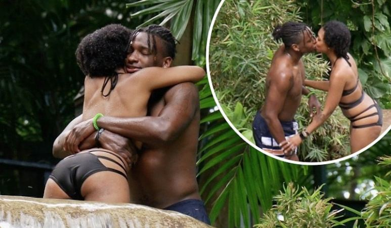 Married at First Sight's Jephte Pierre and Shawniece Jackson embracing and kissing