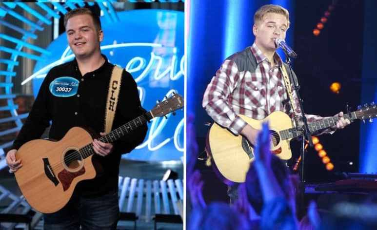 Caleb on American Idol audition and during Top 24 solo