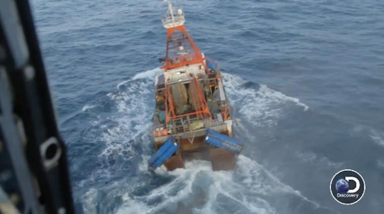 The Defender rolls in big swells
