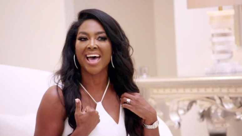 Kenya Moore during her feud with Kim Zolciak on The Real Housewives of Atlanta