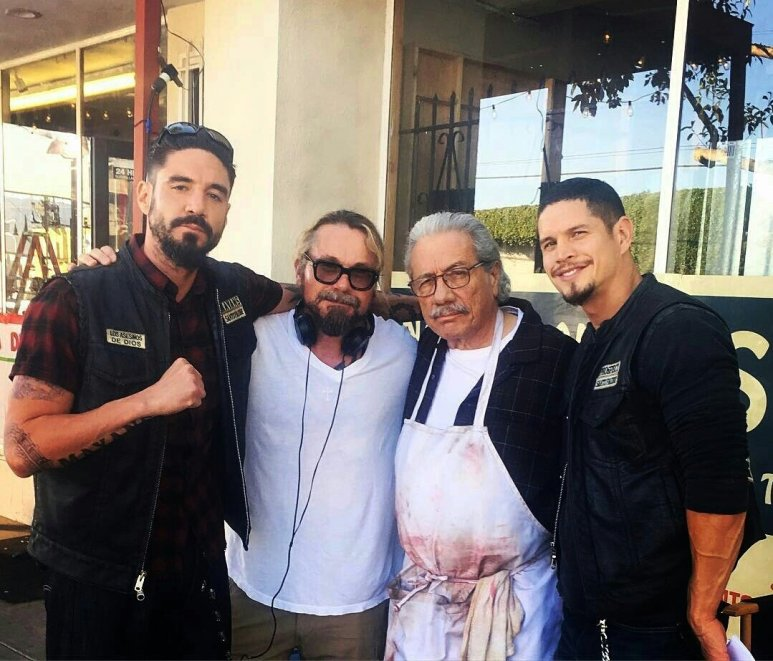 Edward james Olmos, Kurt Sutter, JD Pardo, Clayton Cardenas