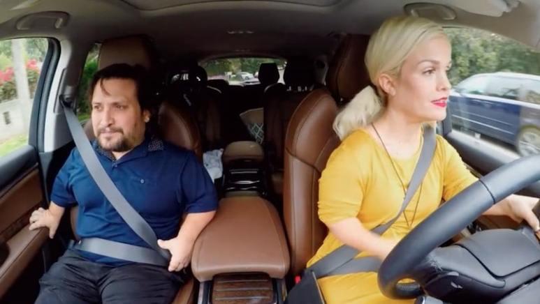 Joe and Terra in the car