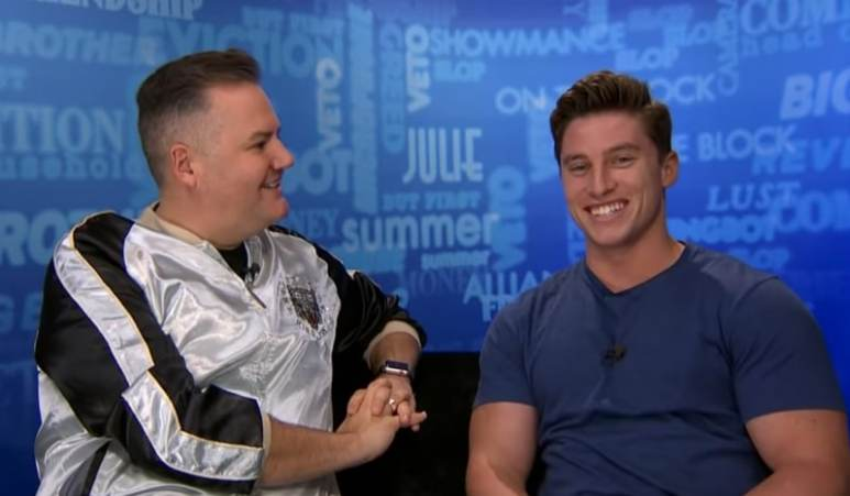 Brett Robinson is interviewed by Ross Mathews for Big Brother 20
