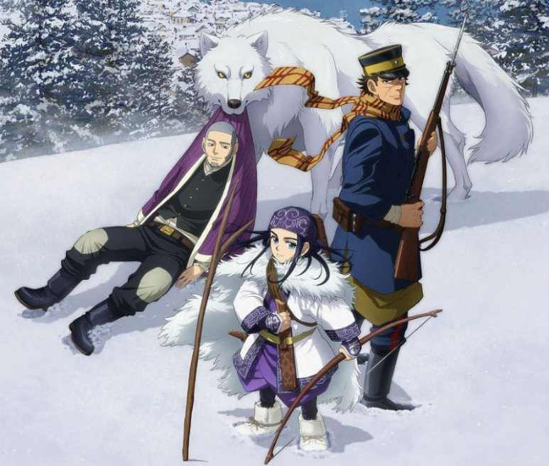 A scene from Golden Kamuy