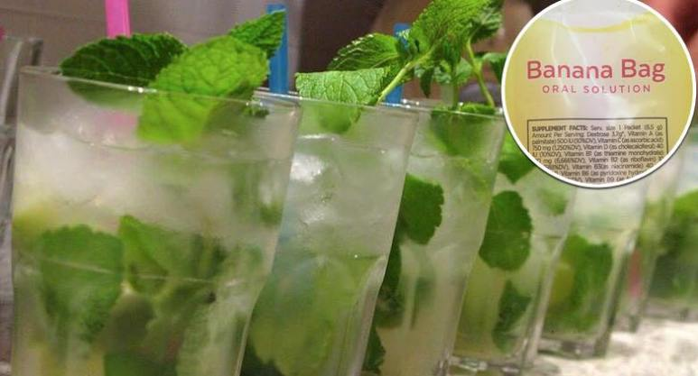 A row of mojitos