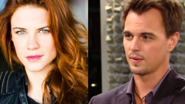 Sally and Wyatt on The Bold and the Beautiful