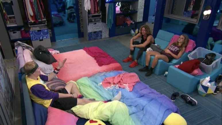 Scottie, Tyler, and Haleigh in the Big Brother house